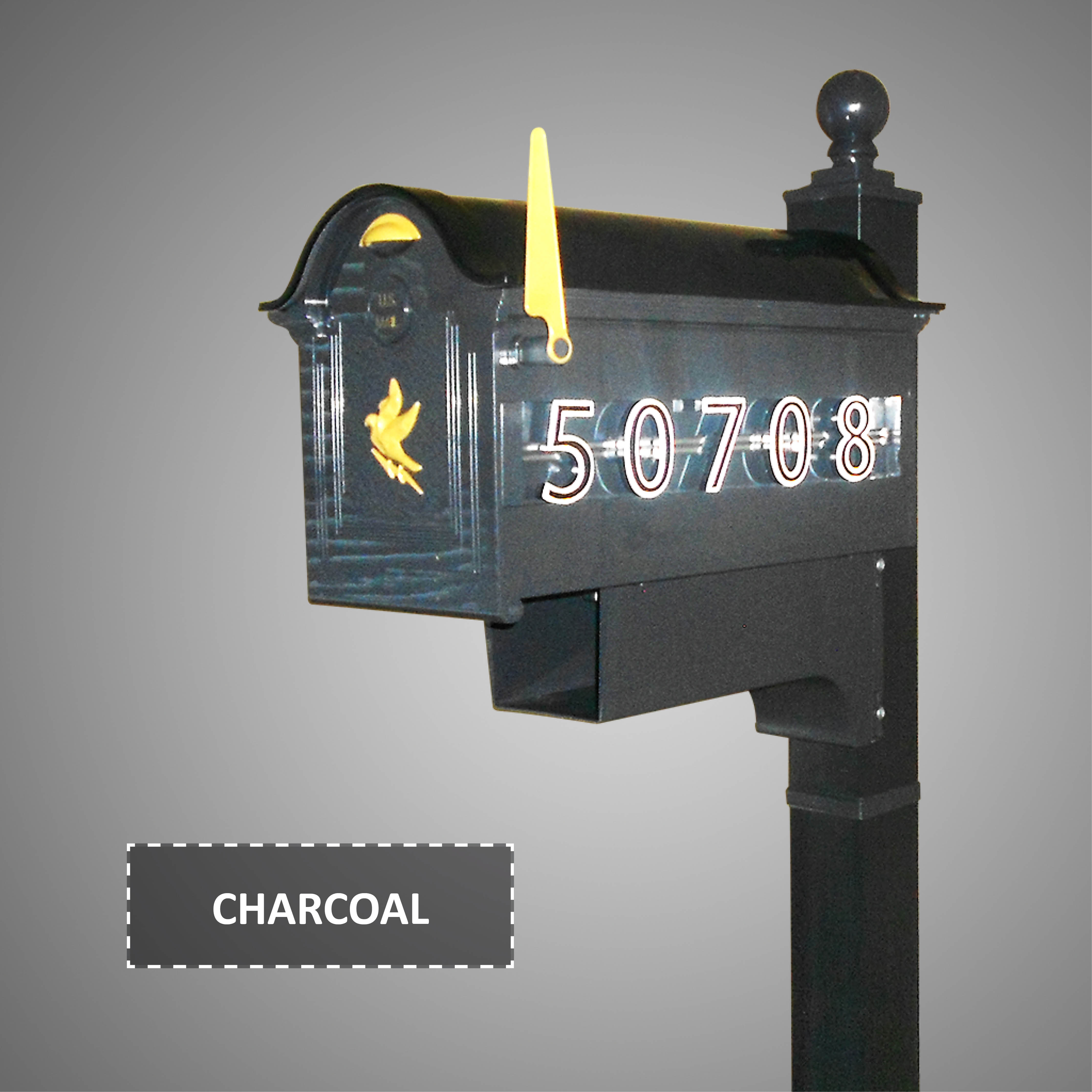 Charcoal Mailbox